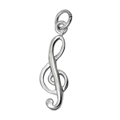 Sterling Silver Music Note G Clef Musical pendant - Blades and Bling Sterling Silver Jewelry