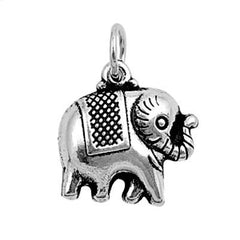 Sterling Silver Happy Elephant with blanket pendant