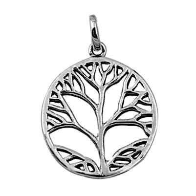 Sterling Silver Autumn Family Tree of Life pendant (Yggdrasil) - Blades and Bling Sterling Silver Jewelry