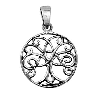 Womens Tree of Life Celtic Silver Pendant