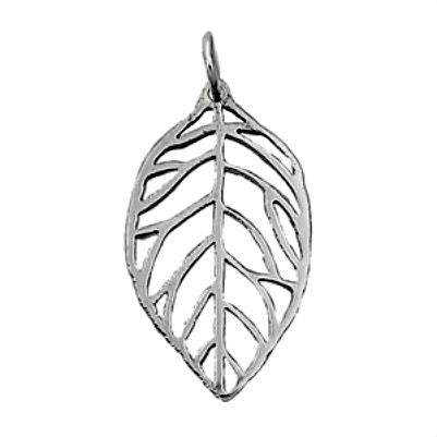 Sterling Silver Leaf pendant (Designer Inspired) - Blades and Bling Sterling Silver Jewelry