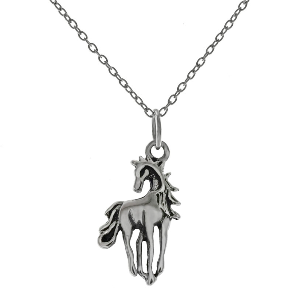 Womens and childrens western pony necklace