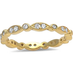Womens all seeing eye eternity ring with diamond and round shaped settings in yellow gold