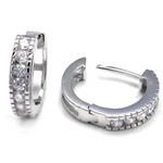 Womens and girls cubic zirconia huggie earrings