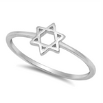 Womens and girls Six Pointed Star Ring