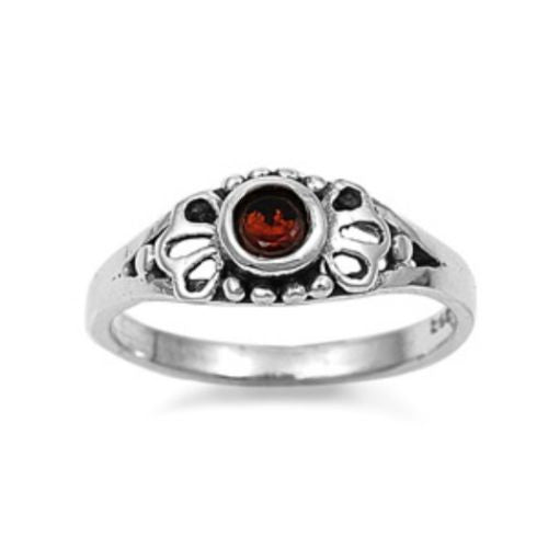 Sterling Silver Red Garnet CZ Ring Size 1-5 by  Blades and Bling Sterling Silver Jewelry