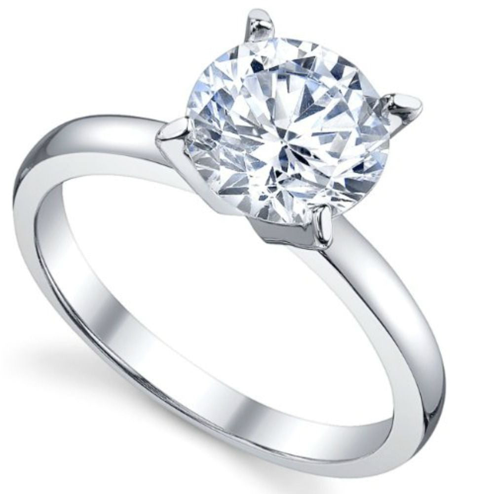 Sterling Silver CZ 2 carat Engagement Ring size 4-10 by  Blades and Bling Sterling Silver Jewelry