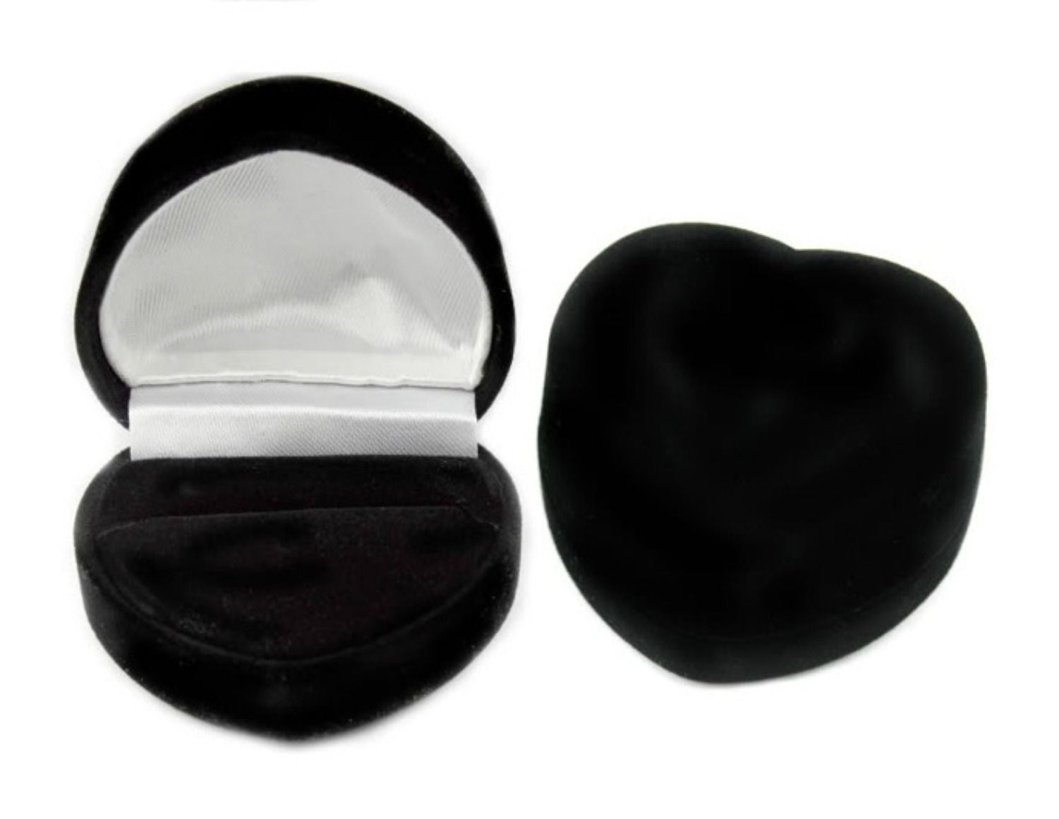 Free heart shaped velvet gift box with engagement ring
