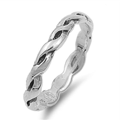Sterling Silver CZ Infinity Eternity Ring Size 1-4 - Blades and Bling Sterling Silver Jewelry