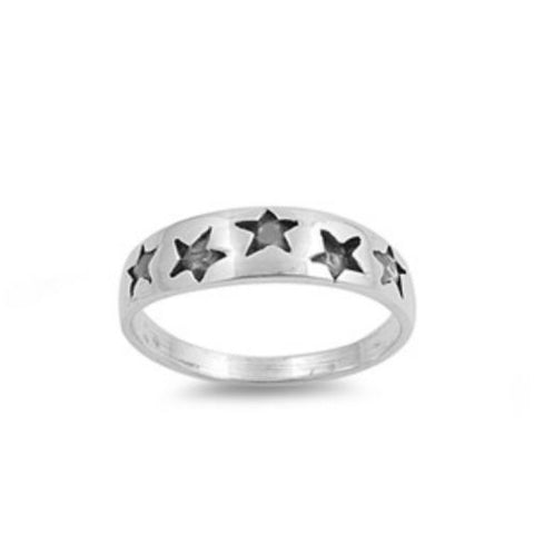 Sterling Silver CZ Star Ring Size 1-5 by  Blades and Bling Sterling Silver Jewelry