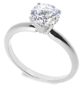 Sterling Silver CZ 1 carat Engagement Ring size 5-10 - Blades and Bling Sterling Silver Jewelry