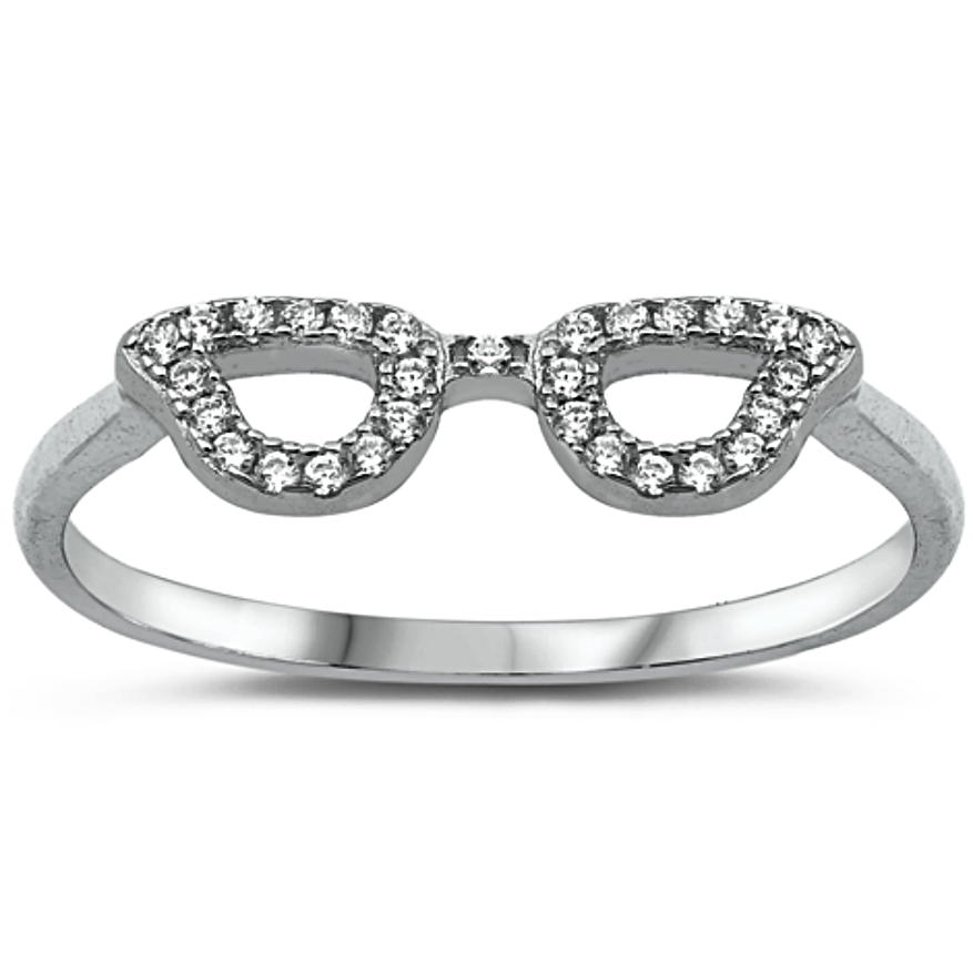 Cute eyeglasses on your finger?  Why not? Silver jewelry