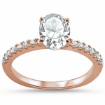 Womens rose gold wedding ring in sterling silver