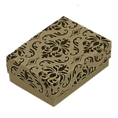 Cute Damask earrring box Sterling Silver Fashion Jewelry