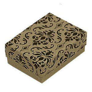 Damask gift box free with purchase of ladies twin heart ring
