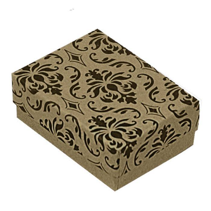 Cute paisley gift box free with purchase of our black rhodium wave ring in silver
