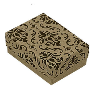 Patterned gift box free with purchase hinged handle handbag pendant