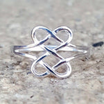 Womens and girls Celtic heart ring
