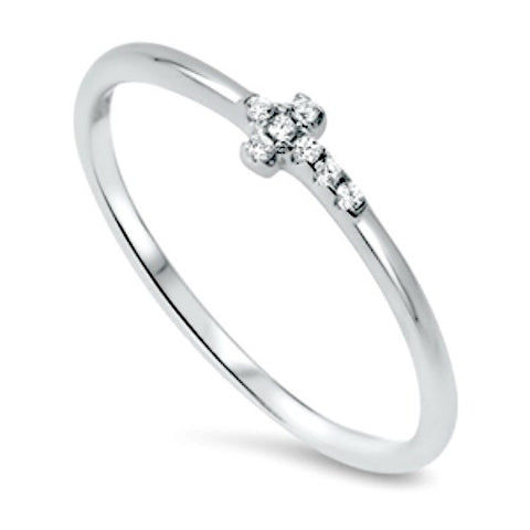 Sterling Silver Ladies Christian Cross Midi Ring or Knuckle Ring size 2-10 by  Blades and Bling Sterling Silver Jewelry
