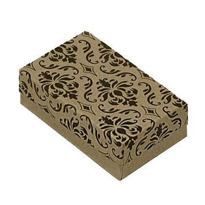 Cute damask ring box comes free with our infinity heart ring