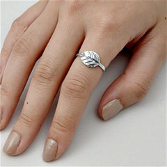 .925 Sterling Silver Leaf Leaves Ladies Fashion Ring Size 4-10 - Blades and Bling Sterling Silver Jewelry