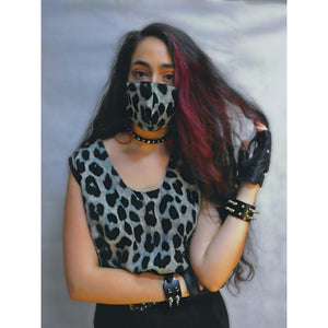 Mascarilla Lady ROCK leopardo