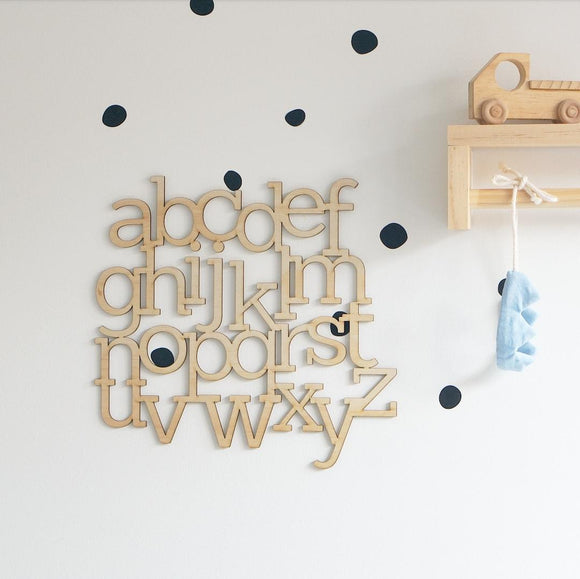 Wooden ABC Wall Decor