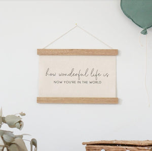 """How Wonderful..."" Wall Banner"