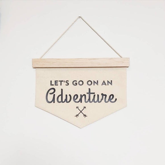 'Let's Go On An Adventure' Quote Banner