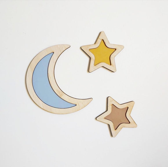 3D Moon and Stars