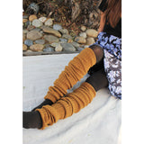 Wool Blend Extra Long Ribbed Leg Warmers