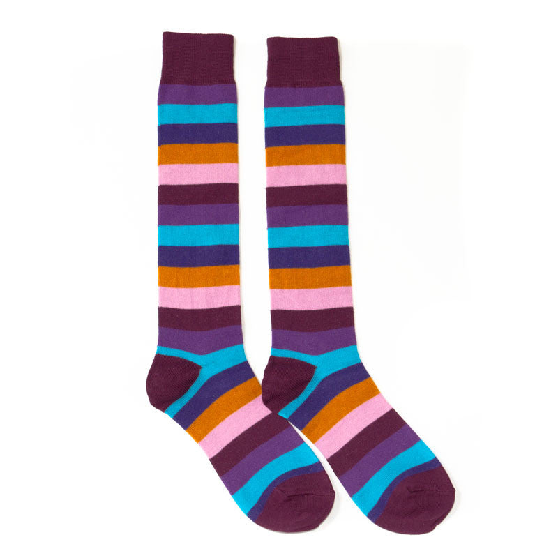 Purple Rainbow Knee High Socks