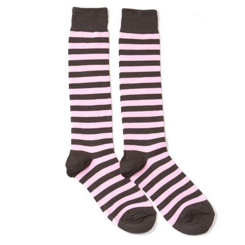 eeebbf28458 Pink Striped Knee Highs