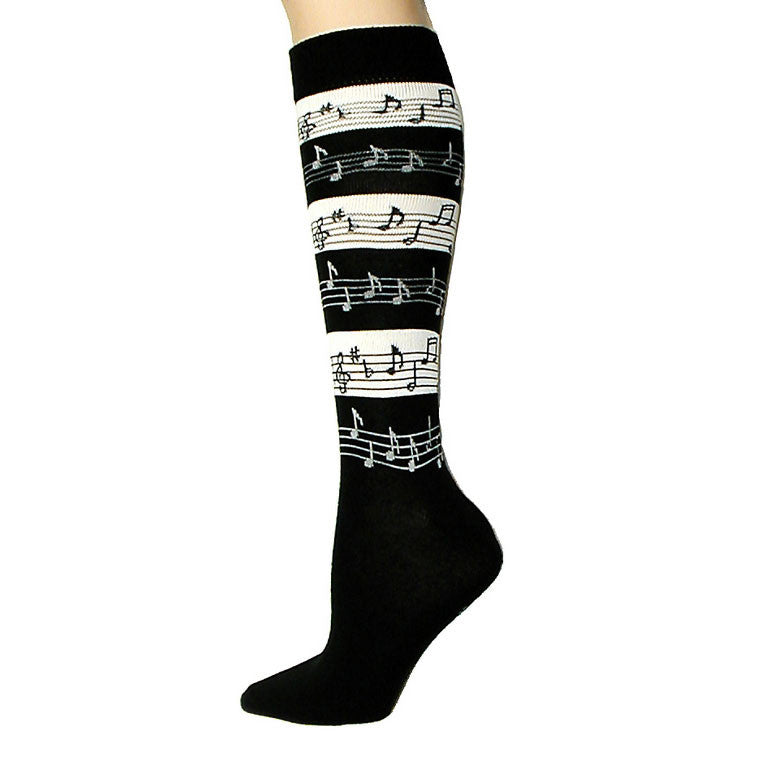 Music Stripes Knee High Socks