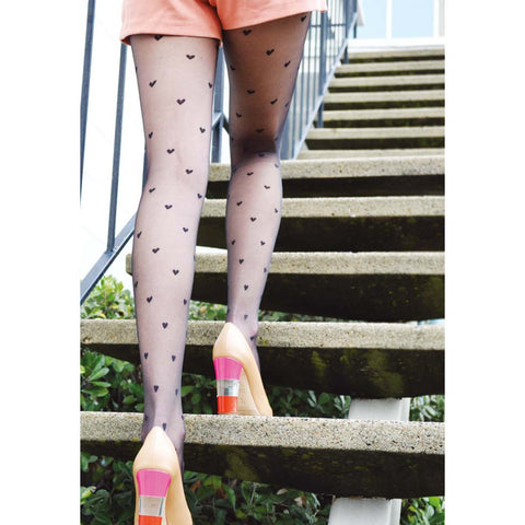 Hearts Sheer Tights
