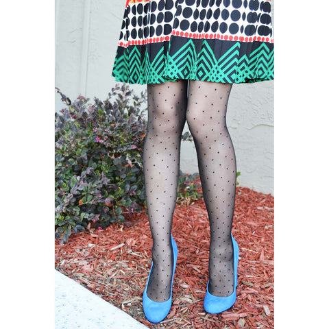 Pin Dots Sheer Tights