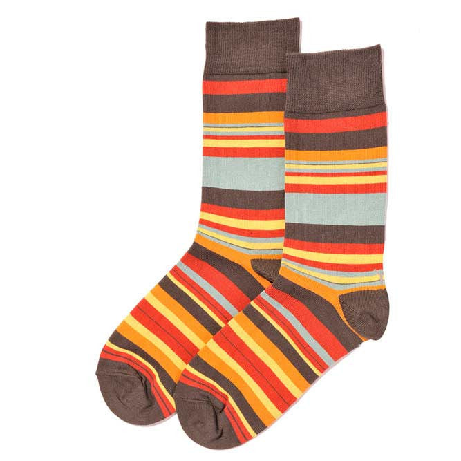 Retro Stripes Men's Crew Socks