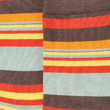 Retro Stripes Crew Socks Closeup