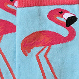 Flamingo Crew Socks Closeup