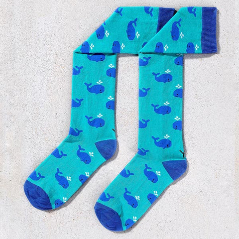 Blue Whales Knee High Socks