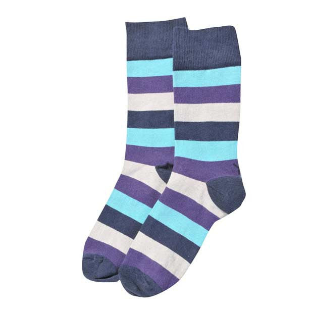 Purple Stripe Hype Crew Socks