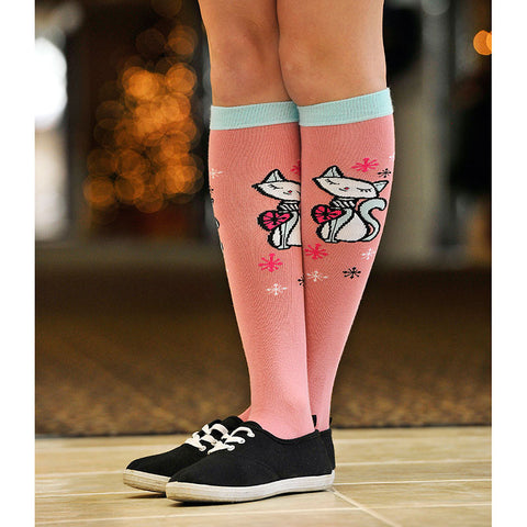 Wearing Retro Kitty-Cat Knee Highs