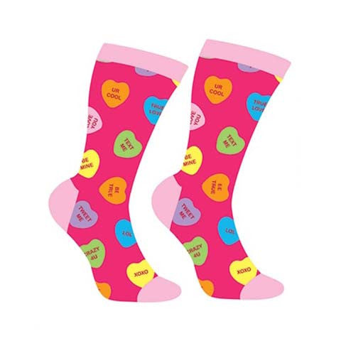 Conversation Hearts Crew Socks