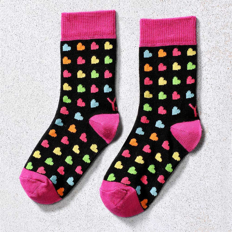 Hearts Children's Crew Socks