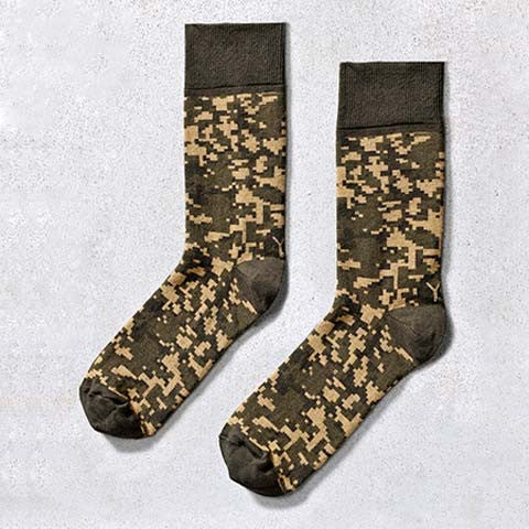 Digital Camo Crew Socks