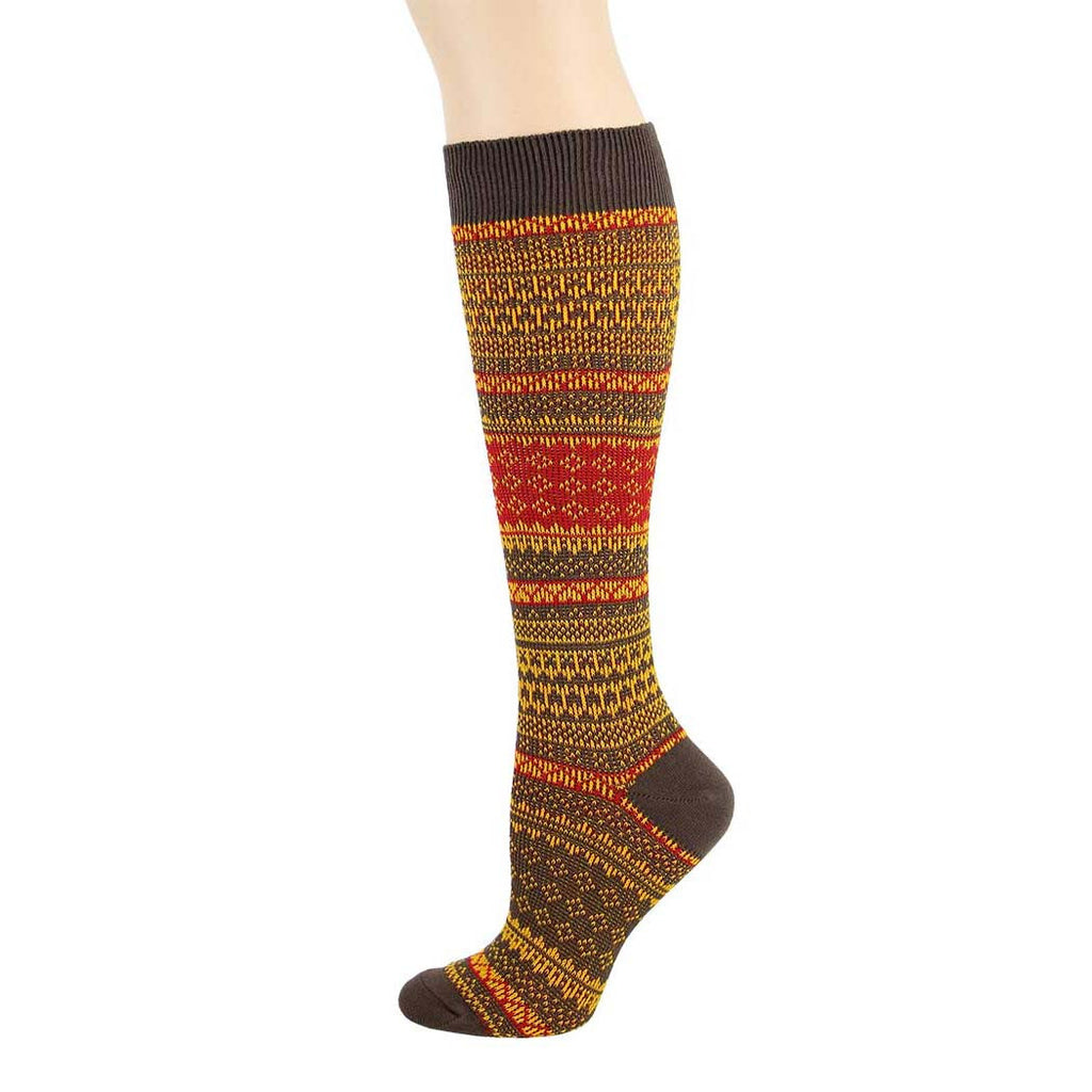 Brown Icelandic Knee High Socks