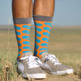Arroyo Blue Men's Crew Socks