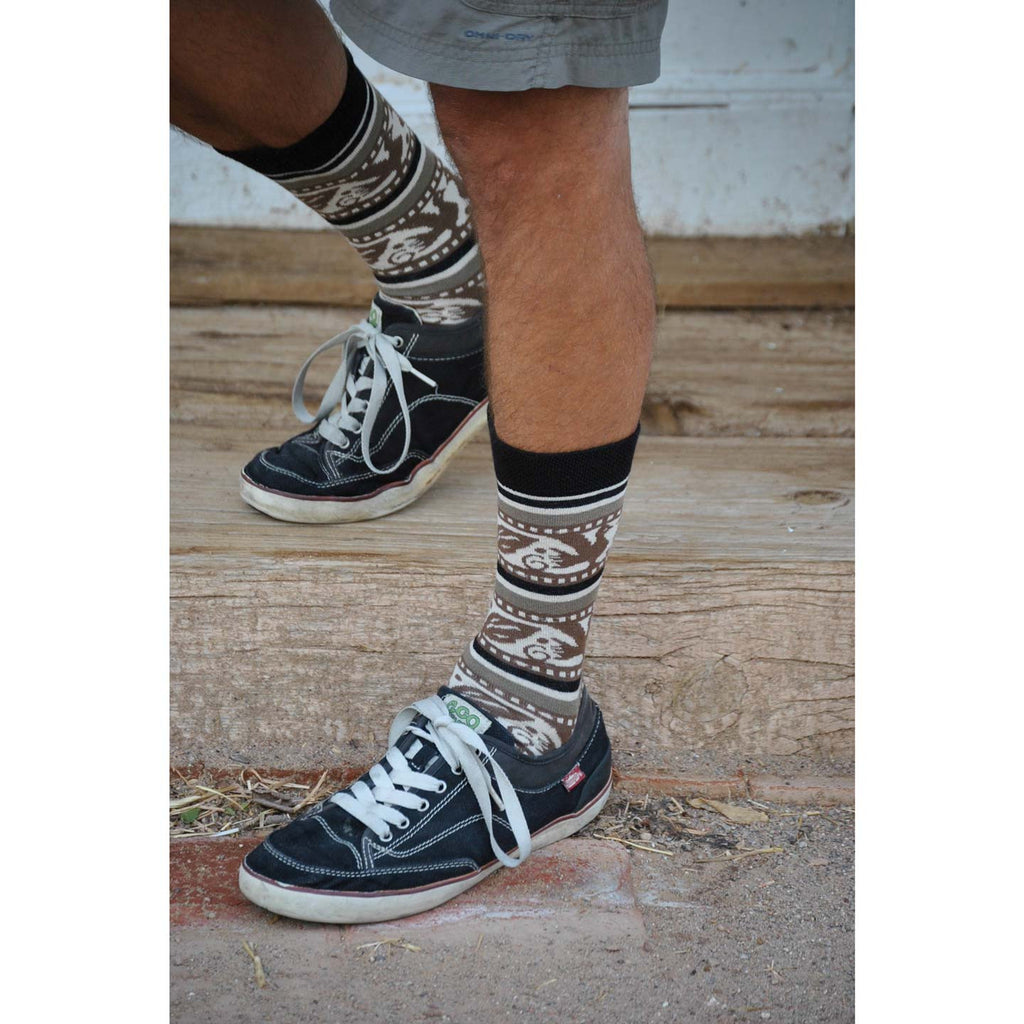 Folklore Black Men's Crew Socks