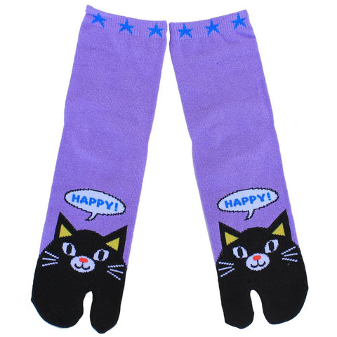 Happy Cat Tabi Socks
