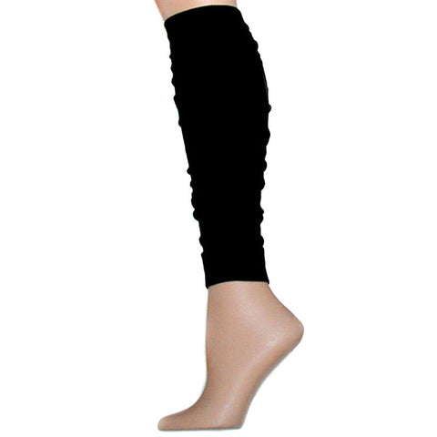 Black Flat Knit Leg Warmers